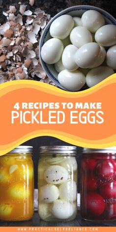 Pickled eggs are a real treat and the perfect tangy salty snack. Just pour a flavorful brine over hard-boiled eggs and stick them in the fridge, no canning required. Home Canning Recipes, Cooking Recipes, Cooking Tips, Egg Recipes, Appetizer Recipes, Appetizers, Picked Eggs, Hp Sauce, Simply Yummy
