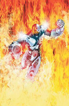 #Cyborg #Fan #Art. (Flashpoint Legion of Doom Vol.1 #3 Cover) By: Miguel Sepulveda & José Villarrubia. ÅWESOMENESS!!!
