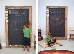 DIY Giant Chalkboard - great for flexibility instead of painting a chalkboard wall