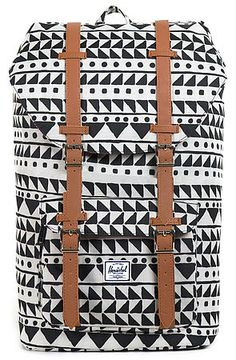 The Little America Backpack in Chevron Black by Herschel Supply