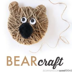 Cutest ever bear craft Christmas ornament for kids.