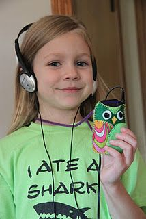 Owl MP3 player holder necklace.