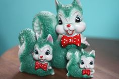 Kitschy Squirrels. I have the big one. Wish I could find the other two.