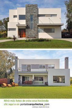 Classic House Design, Minimalist House Design, Minimalist Home, Modern House Design, Building Design, Building A House, Casas Country, House Outside Design, Modern House Facades