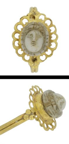 Roman gold ring/cameo, 1st century A.D.