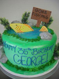 Gone Fishing 35th Birthday Cakes, Fish Cake Birthday, 70 Birthday, Birthday Parties, Fishing Stuff, Gone Fishing, Stix And Stones, Fishing Cakes, French Toast Casserole