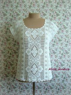 Filet crochet top Bieke