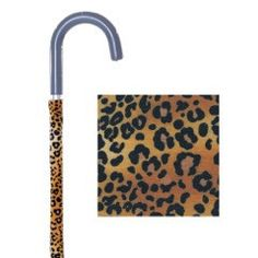 Fabric Cane Covers - Leopard