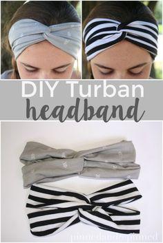 The easiest DIY turban headband to make in under 15 minutes. via - ScrunchiesThe simplest DIY turban headband that can be made in less than 15 minutes. via PINNED AND REPI … - Sewing ProjectsBaby headbands are a must for your adorable baby boy. Headbands For Short Hair, How To Make Headbands, Headbands For Women, Sewing Headbands, Fabric Headbands, Baby Turban Headband, Turban Headband Tutorial, Diy Fashion No Sew, Headband Pattern