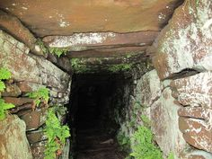 Looking into the Entrance Passageway of the Vinquoy Chambered Cairn, Eday, Orkney, Scotland (J. Demetrescu 2010)