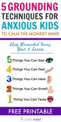 Help an anxious child with magic grounding techniques to calm the monkey mind and get instant relief from anxiety & big worries. 5 Grounding exercises. #anxiouskids #groundingtechniquesforkids #groundingtechniquesforanxiety #kidsanxiety #helpkidswithanxiety #helpanxiouskids #anxietyinkids #positiveparentingtips #positiveparentingtools #positiveparentingstrategies #positiveparenting #gentleparenting #helpingkidswithanxiety #anxiouskids Child Behavior Problems, Kids Behavior, Grounding Exercises, Monkey Mind, Positive Parenting Solutions, Gentle Parenting, Parenting Tips, Emotional Regulation, Anxiety In Children