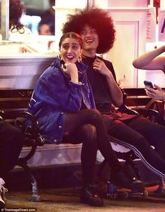 Date night? Lourdes Leon was having a wonderful time with a happy fellow in NY's SoHo area...