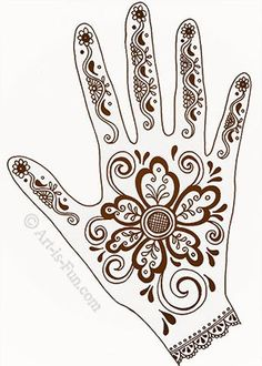Henna hand designs Art Lesson with ideas for designs.