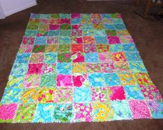 lilly dress quilt ~ made from 7 years of carolina cup dresses! <3 ... : lilly pulitzer quilts - Adamdwight.com
