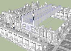 Colorcrayons' Workshop & Exhibit: Space Hulk concept work: 3D Tiles #3