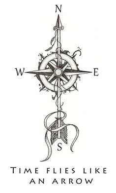 #compass #arrow #tattoo