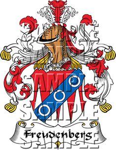 Freudenberg Family Crest apparel, Freudenberg Coat of Arms gifts