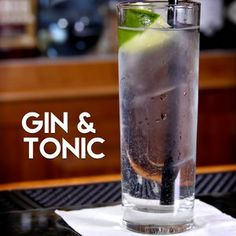 Gin & Tonic | AwesomeDrinks Cocktail Recipes #cocktails #gin #highball #easy