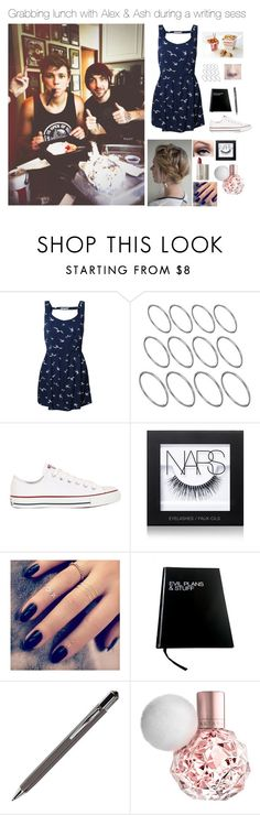 """""""Grabbing lunch with Alex & Ash during a writing sess"""" by brenda-all-over ❤ liked on Polyvore featuring Blonde + Blonde, ASOS, Converse, NARS Cosmetics, Ilia, Lottie and ICE London"""