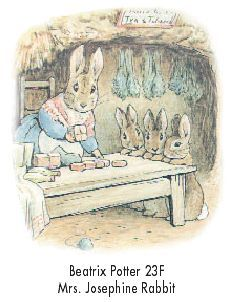 Beatrix Potter illustration from Tim Hancock.  That's rabbit tabacco hanging upside down behind, Flopsy, Mopsy and Cottontail.