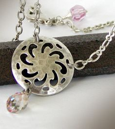 Purple Haze Swarovski Crystal Necklace with Filigree Antique Silver ... the perfect jewelry gift for your Valentine! $35
