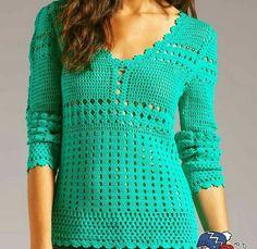 Latest And Modern Crochet Design Ideas Crochet Cardigan Pattern, Crochet Shirt, Knit Crochet, Easy Crochet, Crochet Camera, Modern Crochet, Crochet Fashion, Beautiful Crochet, Crochet Designs