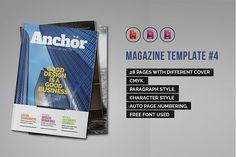 Indesign Magazine Template #4 by iwanraj on @creativemarket