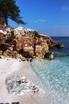 Marble Beach, Thassos. #beach #Aegean #paradise (A. Carman)