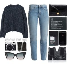 Untitled #1314 by andreiasilva07 on Polyvore featuring polyvore, fashion, style, MANGO, M.i.h Jeans, Valentino, Hermès, Fendi, Gucci and The Body Shop