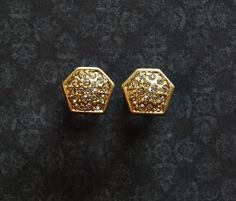 Gold and Crystal Plugs 4g, 2g or 0g - One of a Kind by ryarr on Etsy
