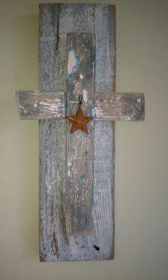 Barn Wood Crafts | Star cross on barn wood | craft to do's