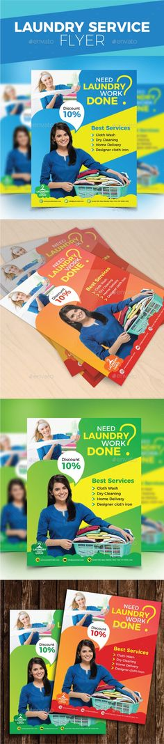 Laundry Services Flyers Templates | Pinterest | Laundry service ...