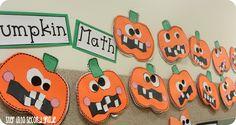 Step into Grade with Mrs. Lemons: Wild Things and Pumpkins Math Classroom, Kindergarten Math, Classroom Ideas, Autumn Activities, Math Activities, 1st Grade Math, Second Grade, Grade 1, Halloween Math