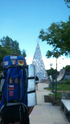 I once met a guy who put down flags of every country where he had been with his backpack. He had an amazing amount of them. #Travel #LaQuiaca