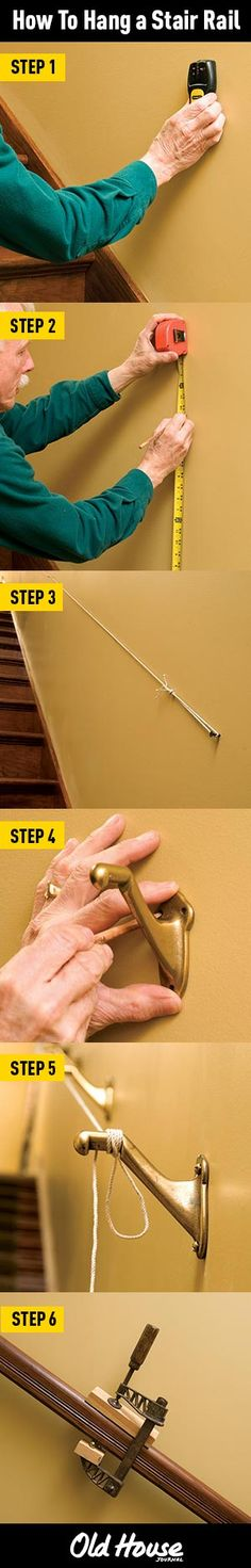 How to install a stair rail (Photos: Andy Olenick) | Old House Journal DIY Month—30 days of projects sponsored by www.timberlane.com