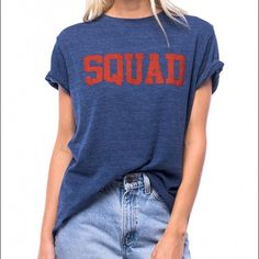 BNWT suburban riot squad tee Brand new with tag Suburban Riot Squad tee. Size medium. Crew neck. Loose fit crew tee. Lightweight triblend jersey.  'SQUAD' graphic.  Machine Wash Cool Tumble Dry Tops Tees - Short Sleeve