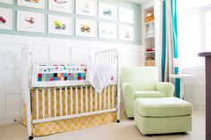 Bright and Happy Nursery with Wainscoting - Project Nursery