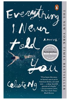 """The opening sentence of Celeste Ng's cleverly crafted, emotionally perceptive debut, Everything I Never Told You, is characteristically unsparing: """"Lydia is dead."""" This stone-cold fact creates immediate tension, not least because Lydia's parents, James and Marilyn Lee, and siblings, Nath and Hannah, don't yet know. #paperbacks"""