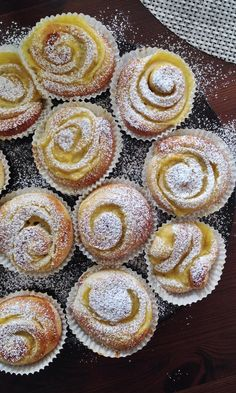 Sweet Desserts, Sweet Recipes, Baking Recipes, Dessert Recipes, Tasty Pastry, Finnish Recipes, Baked Doughnuts, Sweet Pastries, Sweet And Salty