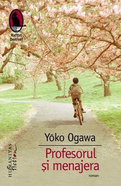 <p>Romancieră, autoare a numeroase volume de proză scurtă și eseistă, recompensată cu cele mai importante premii literare din Japonia, tradusă în peste 20 de limbi, Yōko Ogawa este mai cu seamă cunoscută datorită romanului Profesorul și menajera, ecranizat în 2006 de regizorul Takashi Koizumi.</p><div><br></div><div>Când o tânără menajeră ajunge în casa Profesorului, un matematician ilustru care își poate folosi memoria doar 80 de minute pe zi, descoperă cu mirare că unicul mod al acestuia… Roman, My Love, Reading, Books, Movies, Movie Posters, Future, Movie, Literatura
