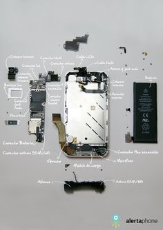 Disassembly iPhone 4S Iphone 4s, Iphone Hacks, Electronics Mini Projects, Electronics Basics, Iphone Repair, Mobile Phone Repair, Steve Jobs Apple, Apple Watch Iphone, Electronic Deals
