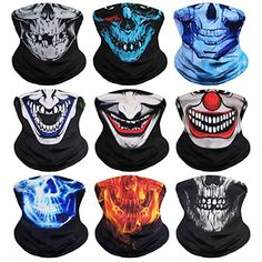 Headband Bandana Head Wrap Scarf Neck Warmer Headwear Balaclava for Sports Skull Face Mask, Nose Mask, Dog Halloween, Halloween Masks, Bandana Head Wraps, Jacky, Joker Poster, Head Wrap Scarf, Cool Masks