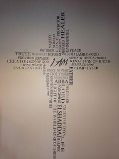 Names of God I AM Vinyl Design By DeBella Wall by DeBellaBoutique
