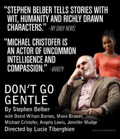 """Don't Go Gentle"" opens Sunday night! Follow us on twitter at @mcctheater for party pics (any requests?)."