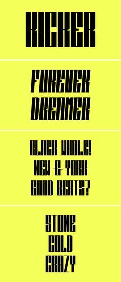 Kicker free font / typeface