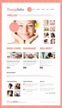 Template 41720 - Beauty Salon Joomla Template With Homepage Photo Gallery