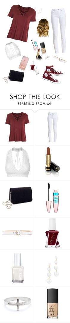 """Everyday"" by miriamk2020 ❤ liked on Polyvore featuring Topshop, Barbour, LE3NO, Gucci, Miss Selfridge, Maybelline, Calvin Klein Jeans, Essie, Rebecca Minkoff and Lizzy James"