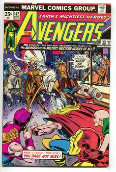 Avengers 142 Marvel 1975 VF Iron Man Beast Thor Captain America Patsy Walker