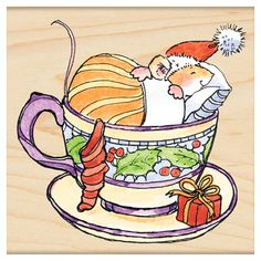 Penny Black stempel christmas in a cup