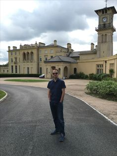 Me posing outside RAF Bentley Priory!